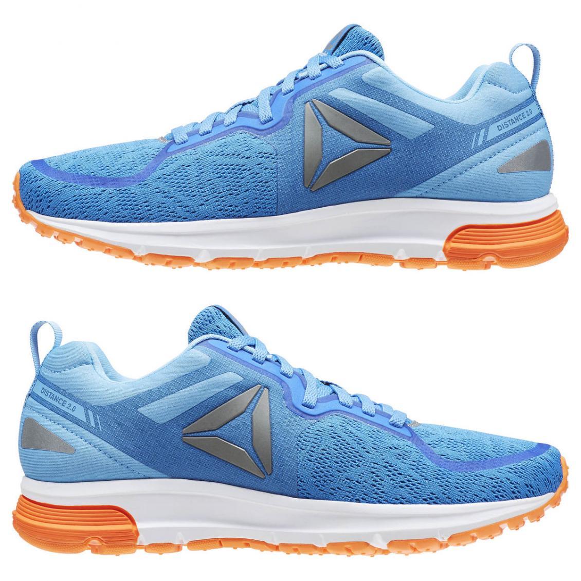 Blue – Reebok One Distance 2.0 Womens Echo Blue / Sky Blue / White / Pewter / Wild Orange