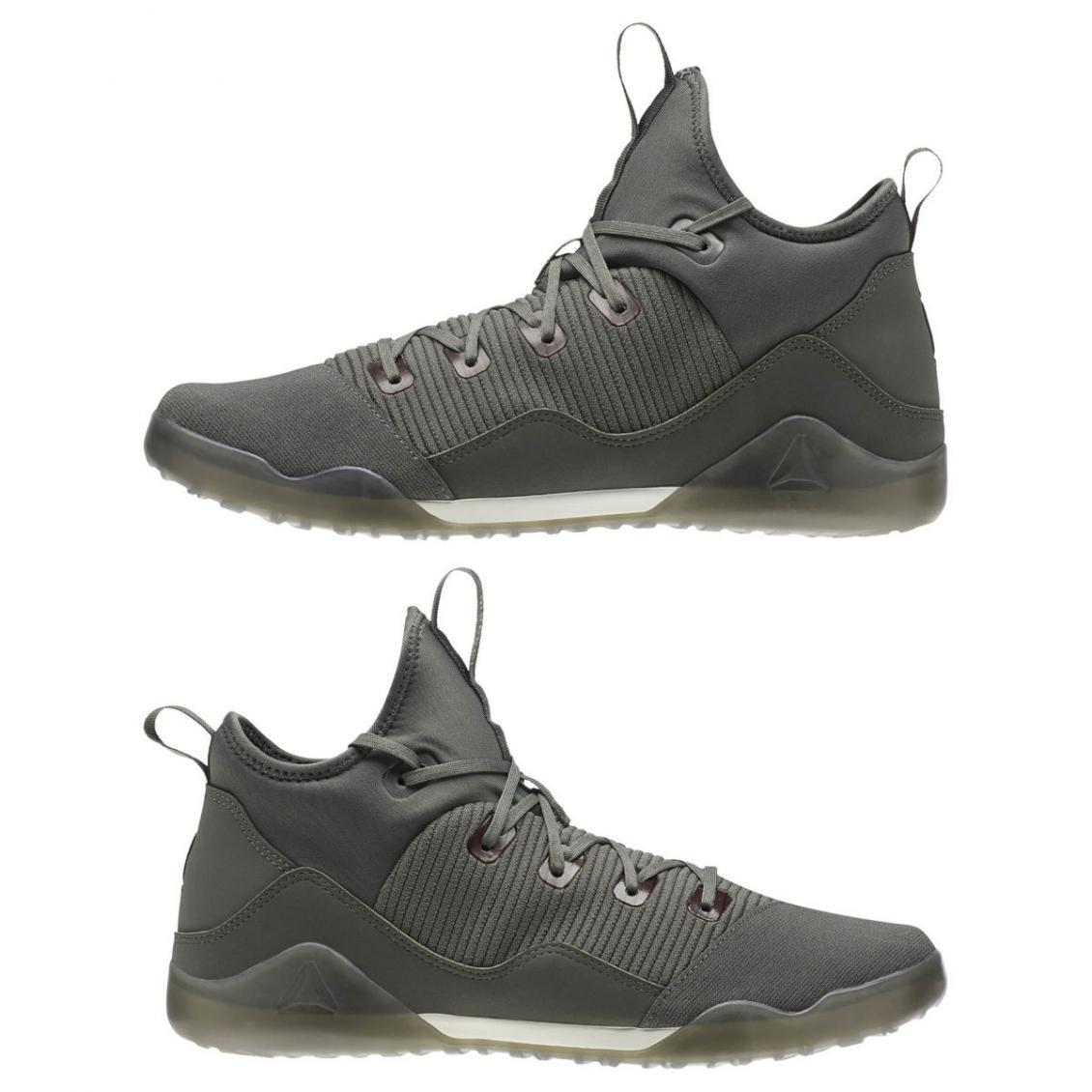 Grey – Reebok Combat Noble Trainer Mens Ironstone / Chalk / Coal