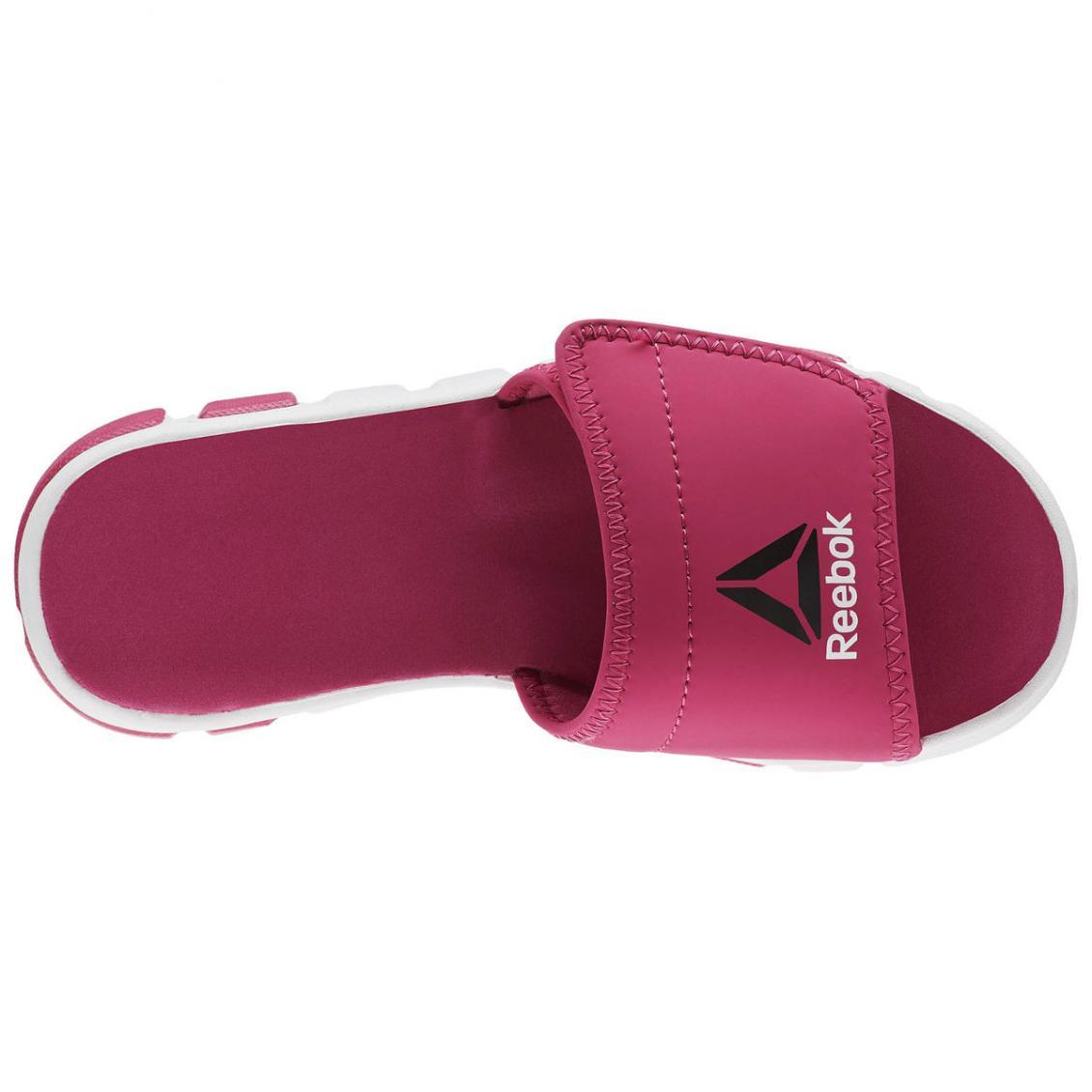Pink – Reebok Wave Glider II Slide – Grade School Kids Pink Craze / White