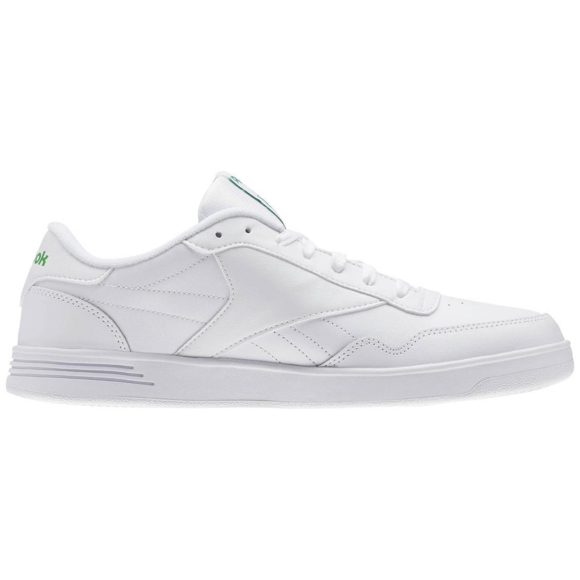 White – Reebok Club MEMT Wide 4E Mens White / Glen Green