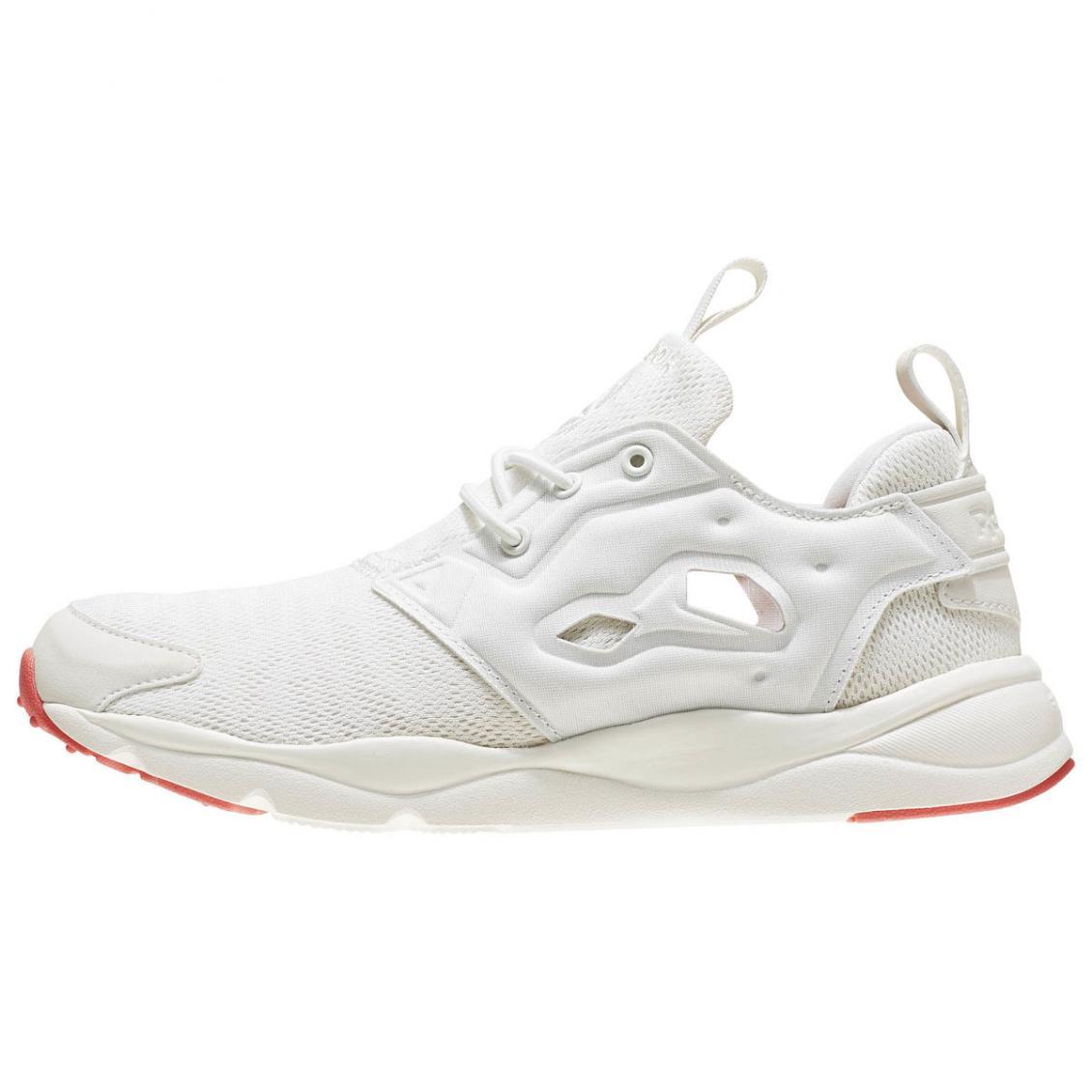 White – Reebok Furylite Sole Womens Classic White / Chalk / White / Fire Coral